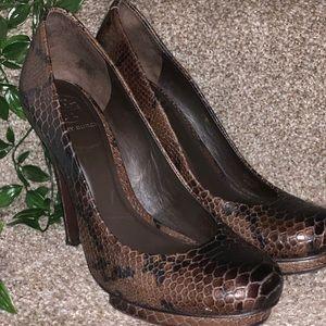 Tory Burch Jude-Amazon Snake Skin Print heels.